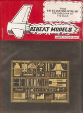 Reheat Models Photo-Etch P.51 B/C Mustang for Hasegawa 1/72 Scale Model Kit