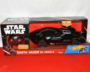 Darth Vader RC Remote Control Vehicle 1:18 Hot Wheels Star Wars 2015 New BX6