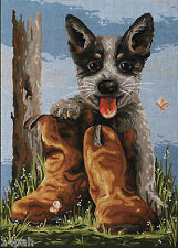 Bluey's Boots country threads TFJ-1024 36cm x 50cm Tapestry 9329809014676 New