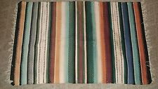 "Woven Blanket Throw Wall Hanging Multi-color stripes 38"" x 60"" Native American"