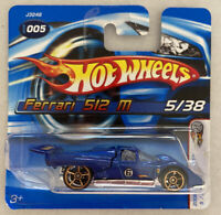 2006 Hotwheels Ferrari F512 512 M Blue FTE Faster Than Ever! Blue! Mint! MOC!