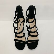 Black Above The Ankle Strappy Heels