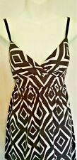 Women's Derek Heart Maxi Geometric Long Dress Back Tie Size Medium