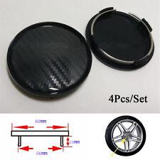 4Pcs Carbon Fiber Look ABS 60mm/58mm Car Wheel Center Hub Caps Decorative Cover