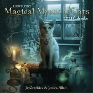 SEALED Llewellyn's 2021 Magical Mystical Cats Wall Calendar USA SELLER Planner