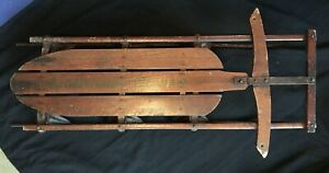 """Rare Early Lightning Guider 46"""" Snow Sled -  No. 122 1/2"""