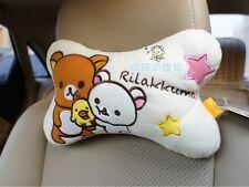 San-X Rilakkuma Relax Bear Car Seat HeadRest Cushion Neck relax bone pillow 2pcs