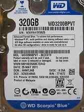 Western Digital 320 GB WD3200BPVT-80ZEST0 DCM:HHMTJHB | 25MAY2011