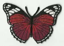 ECUSSON PATCHE PATCH THERMOCOLLANT PAPILLON ROUGE BORDEAUX ET NOIR 7 X 5 CMS