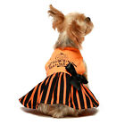 Fitwarm Halloween Dog Dresses Puppy Party Costumes Pet Shirts Cat Outfits Orange