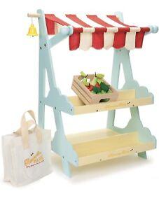 Le Toy Van HONEYBAKE HONEYBEE MARKET Wooden Shop/Stall Kids Pretend Play BN