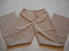 NY & Co CityStretch Dress Trouser Pants Heather Camel Brown Size 4 Tall NWOT
