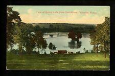 Texas TX Postcard Palastine Spring Lake from Club House 1911