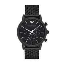 Emporio Armani Sport Chronograph AR1968 Black Stainless Steel Quartz Men's Watch