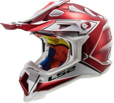 LS2 MX470 Off-Road MX Helmet SUBVERTER BLADE Red Krimson Krome LG