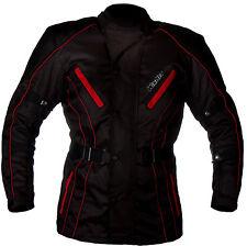Giacca da per moto con protezioni lunga nera e rossa NUOVA S M L 3XL 4XL 48 50
