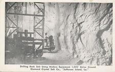 Jefferson Island LA * Diamond Crystal Salt Mine Drilling 1950 * New Iberia area