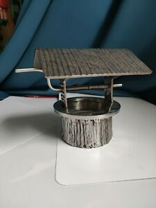 Stunning Rare Vintage  Silver coloured  Miniature Wishing Well Model