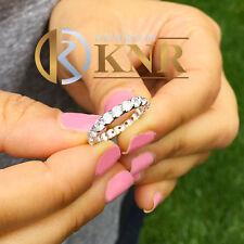2.00CTW  ROUND CUT ETERNITY DIAMONDS BAND ANNIVERSARY 14K WHITE GOLD ART DECO