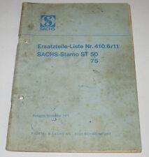 Ersatzteilliste Sachs Stamo ST 50 75 Motor Vergaser Kolben Nr. 410.6/11 11/1971!