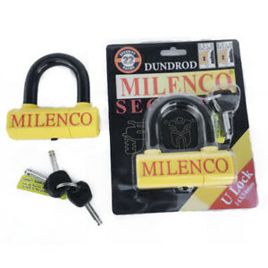 MILENCO Dundrod ULock 14 x 54mm Motorcycle Sold Secure Gold Theft Security