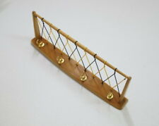 Garderobe Wandgarderobe Coat Rack Holz mit Band Geflecht und Hutablage 50er J.