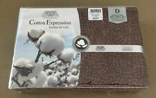 COTTON EXPRESSION Brown Spot Double Bed 4 Piece Sheet Set - NEW IN PACK