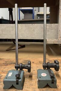 Vintage Machinist Surface Gauge Base Indicator Stands Cast Iron