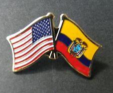 ECUADOR INTERNATIONAL COUNTRY WORLD FLAG LAPEL PIN BADGE 3/4 INCH