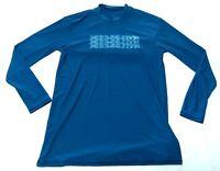 Body Glove Mens Performance Loose Fit Long Sleeve Shirt S Green Blue UVF 50
