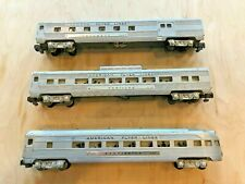 American Flyer by Gilbert Satin Silver Passenger set! L@@K!