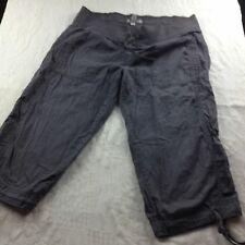 BITTEN Sarah Jessica Parker size 8 olive green cargo cropped pant 6 pockets draw