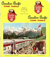 Canadian Pacific Railway, system passenger time table April  26, 1959 - 65 pages