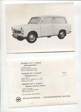 N°4218  /  TRABANT 601 S universal : photo d'epoque constructeur 1967