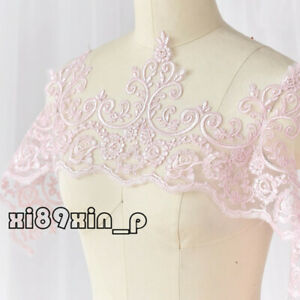 1 Yard Lace Edge Trim Wedding Bridal Ribbon Dress Veil Applique Sewing DIY 6L23