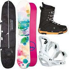 DAMEN SNOWBOARD SET TRANS LTD 152 CM + SONIC BINDUNG GR. M + BOOTS + BAG