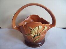 """Vintage Original Roseville Basket Freesia Pattern. 391-8""""  Excellent! Look!"""