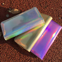 Women Holographic Women PU Leather Long Zipper Laser Hologram Wallet Clutch US