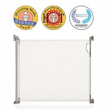 Dreambaby Retractable Mesh Safety Gate, Baby & Dog Pet Stair Gate, 140 cm, White