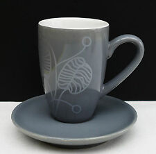 ASA Espresso - Mokkatasse in grau mit modernem Blätterdesign !!! Nr 271
