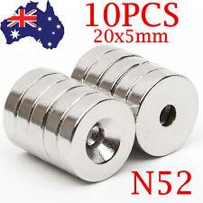 10Pcs 20x5mm Hole 5mm N40 Neodymium Magnets Rare Earth Block Cube Experiment