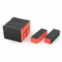 Manicure Polishing Shining Block Pedicure Care Nail Sanding File Black 10 Pcs