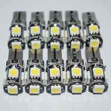 10x T10  Led Canbus Error Free 5 SMD Car Side Wedge light Bulb White 168 194 W5W