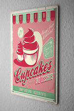 Tin Sign Retro Cupcakes