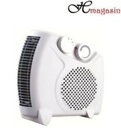 2000W 2KW Portable Silent Electric Fan Heater Hot Thermostat Flat/Upright A11