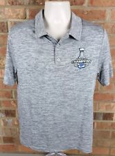 Fanatics NHL St. Louis Blues  2019 Stanley Cup Champions Men's Polo Medium NEW