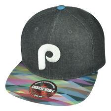 MLB American Needle Philadelphia Phillies Geotag Snap Buckle Flat Bill Hat Cap
