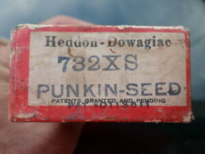 VTG Heddon Red and White Shore Minnow #732XS Punkinseed Box w/Paper