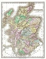 MAP ANTIQUE 1827 FINLEY SCOTLAND OLD HISTORIC LARGE REPLICA POSTER PRINT PAM0283