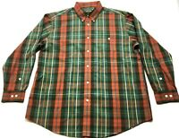 Orvis Mens Colorful Plaid Front Pocket Button Front Shirt Size XL